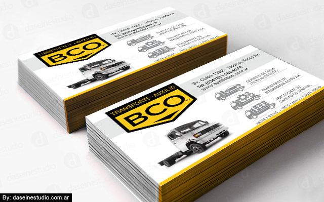 Diseño de tarjetas personales BCO Auxilio y Transporte