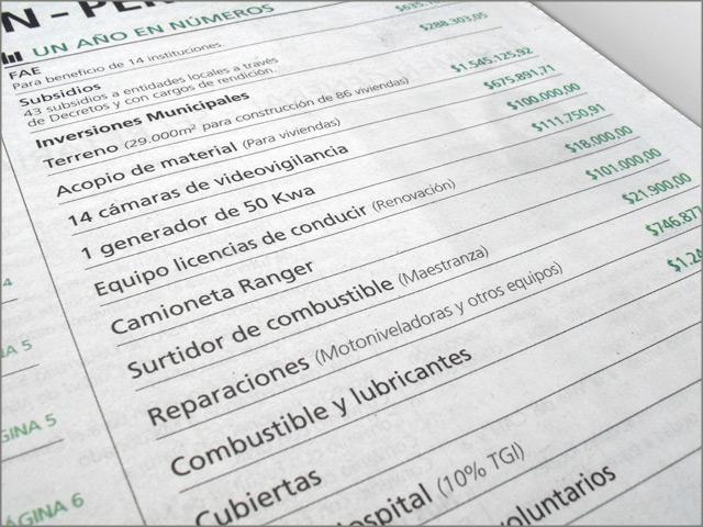 Diseño de Diario Resumen de Gestión - Detalle de tapa