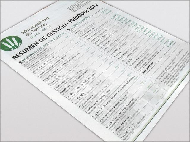 Diseño de Diario Resumen de Gestión - Tapa