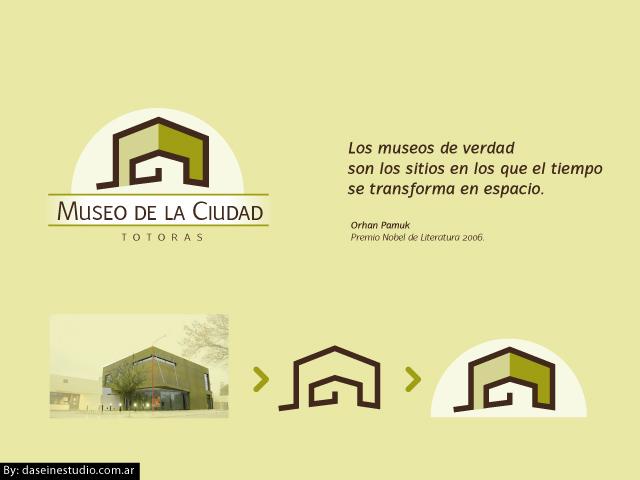 Diseño de logotipo Museo de la Ciudad - Evolución diseño de icono.