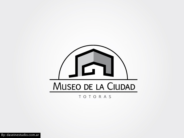 Diseño de logotipo Museo de la Ciudad - Escala de Grises: normalización de logotipo.