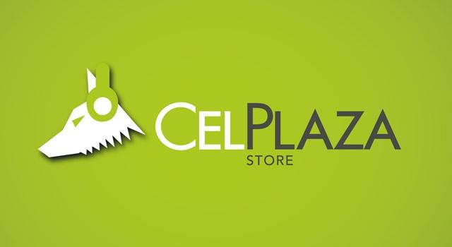 Diseño de logotipo CelPlaza Store Rosario - Color Verde