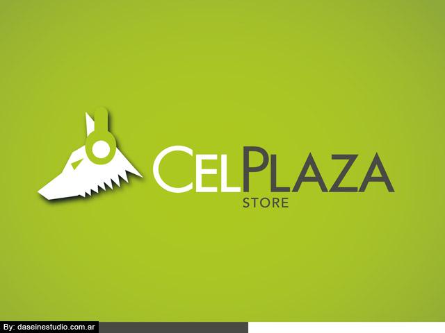 Diseño de logotipo Accesorios para celulares Rosario - Fondo verde: normalización de logotipo.
