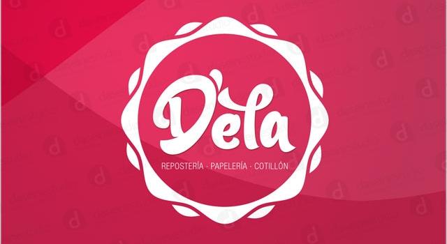 Diseño de logotipo Dela Repostería y Cotillón