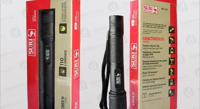 Packaging cajas y blisters para linternas
