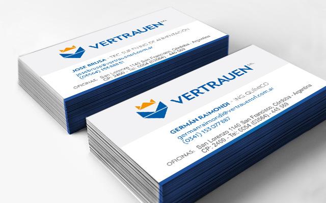 Diseño de tarjetas personales rosario - Vartrauen