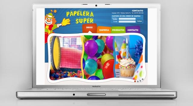 Diseño web Papelera Súper - Presentación