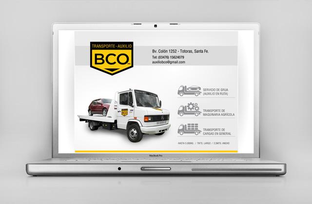 Diseño web BCO Transporte y Auxilio