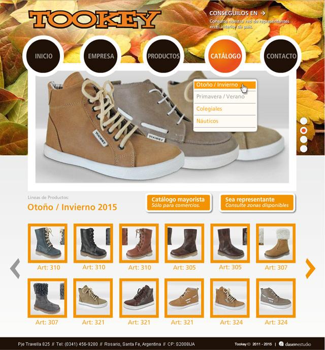 Diseño Web Rosario Calzados Tookey - Catálogo Online