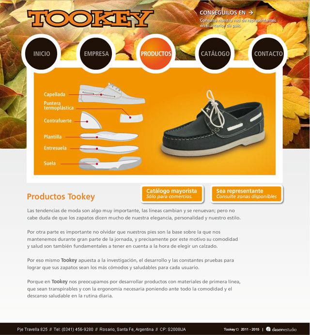 Diseño Web Rosario Calzados Tookey - Productos