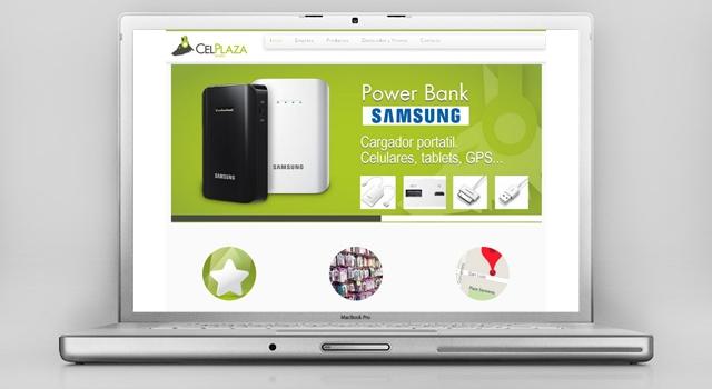 Diseño web responsive CelPlaza Store Rosario
