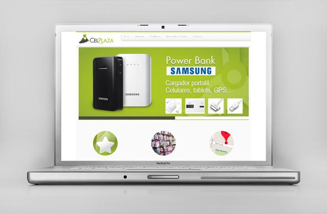 Diseño web responsive CelPlaza Store Rosario - Presentación