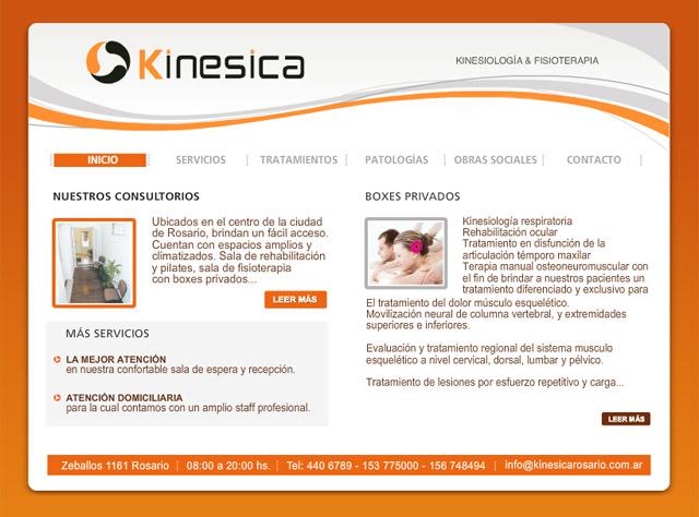 Diseño web Rosario Centro de Kinesiología - Inicio