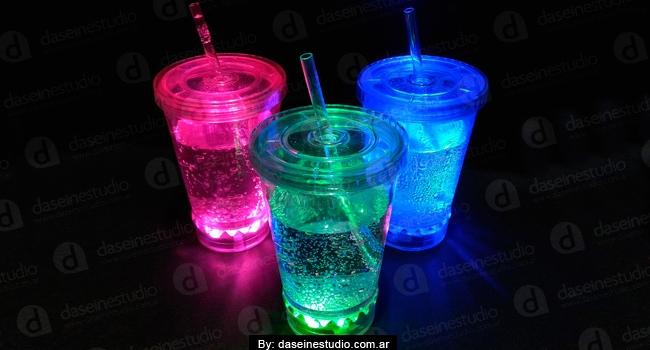 Fotofrafia de productos: Vasos con luces - cotillón