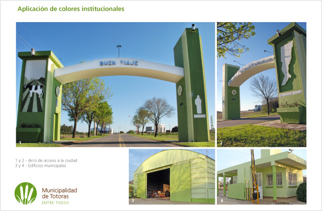 Identidad Visual Municipalidad de Totoras - Aplicación de colores institucionales