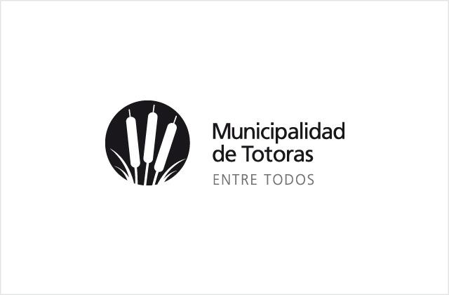 Diseño de logotipo Municipalidad de Totoras - Blanco y Negro positivo: normalización de logotipo.