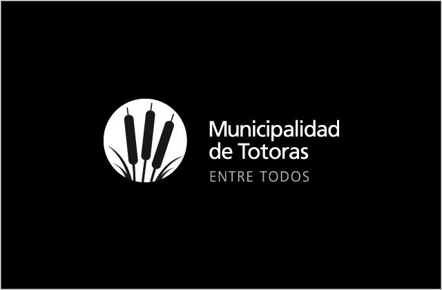 Diseño de logotipo Municipalidad de Totoras - Blanco y Negro negativo: normalización de logotipo.