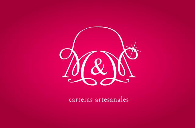 Diseño de logotipo M&M carteras Artesanales