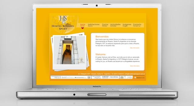 Diseño web Hostel Rosario Sport