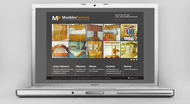 Diseño web Fábrica de Muebles Rosario - Presentación