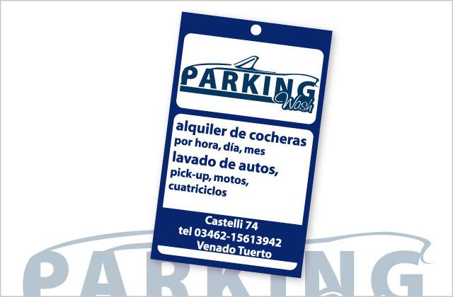 Diseño de tarjeta aromatizante Parking Wash