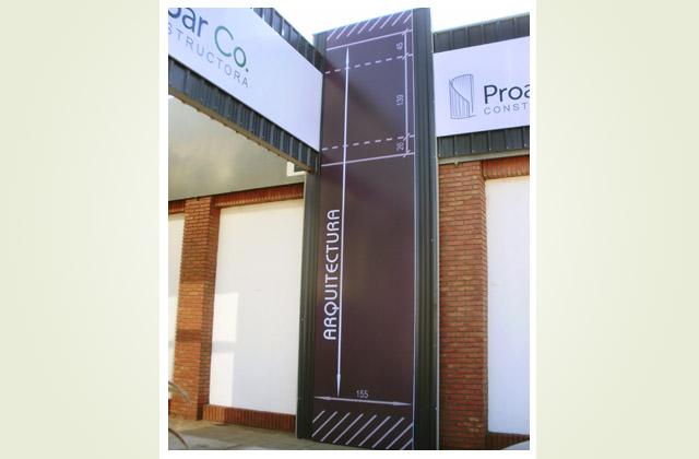 Diseño de cartelería para local Proarco Arquitectura