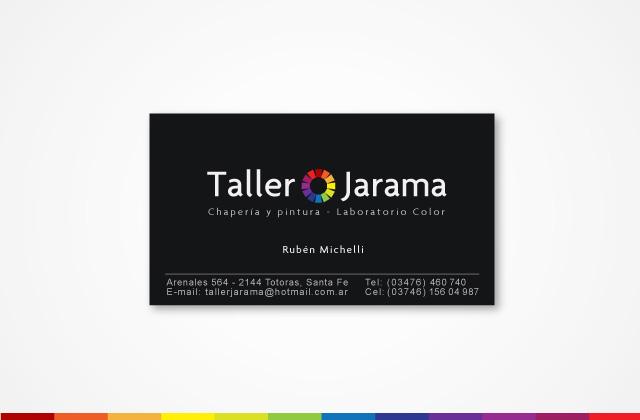 Diseño de tarjetas personales Taller Jarama