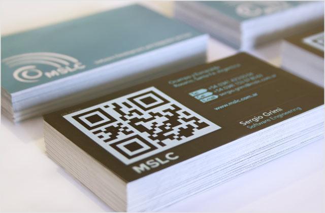 Diseño de Tarjetas personales Rosario QR-CODE