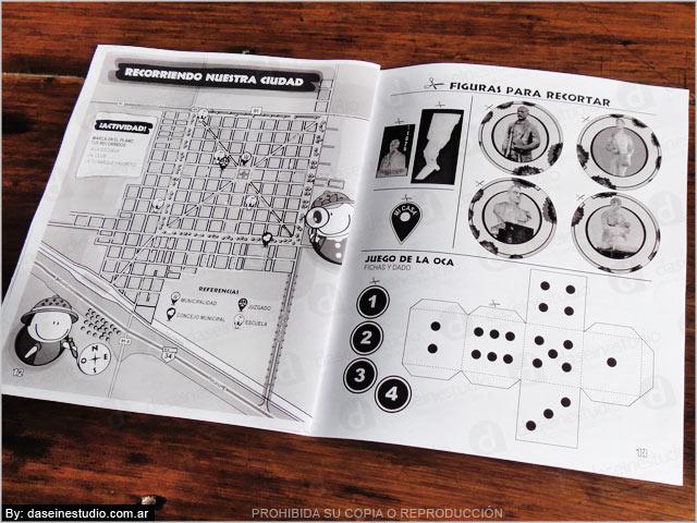 Diseño editorial - Cuaderno de actividades ilustradas - fichas y figuras para recortar