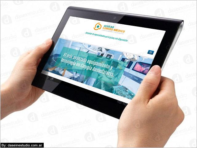 Diseño web responsive Rosario Alvear Centro Medico - vista en Tablet