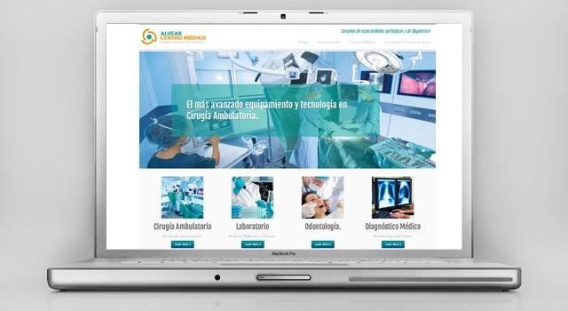 Diseño web Alvear Centro Médico Rosario