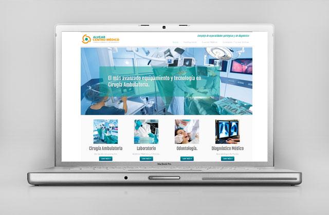 Diseño web responsive Rosario Alvear Centro Medico