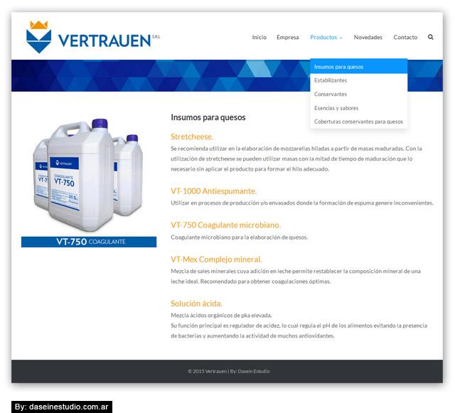 Diseño web responsive - Sección Productos