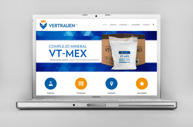 Diseño web responsive Vertrauen SRL