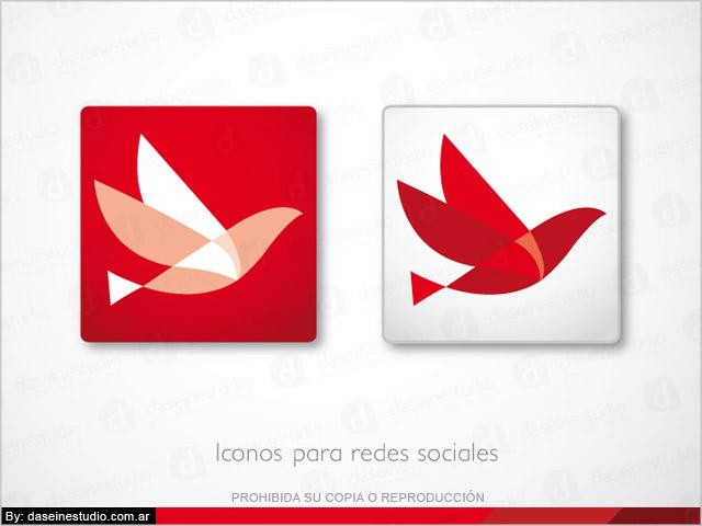 Rediseño de logotipo DAP Consulting Buenos Aires - íconos para redes sociales