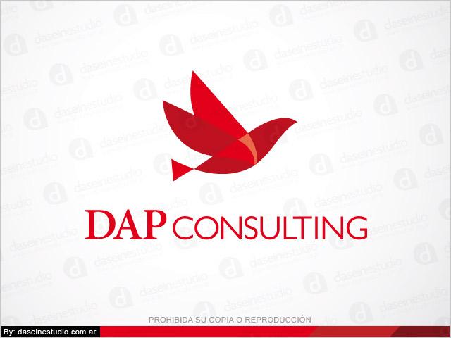 Rediseño de logotipo DAP Consulting Buenos Aires - Versión secundaria fondo blanco: normalización de logotipo.