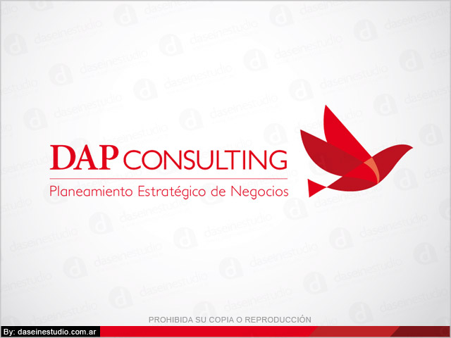 Rediseño de logotipo DAP Consulting Buenos Aires - Fondo blanco: normalización de logotipo.