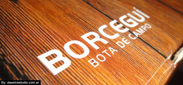 Packaging borcegos Rosario - detalle textura