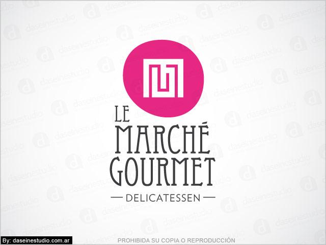 Diseño de logotipo Le Marché Gourmet - Berazategui Buenos Aires - Fondo blanco: normalización de logotipo.