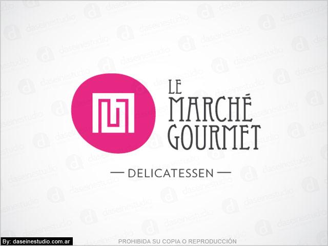 Diseño de logotipo Le Marché Gourmet - Berazategui Buenos Aires - Variante de logo: normalización de logotipo.
