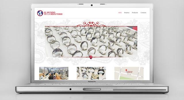 Diseño web responsive casa de Bijouterie