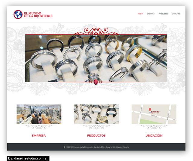 Diseño web responsive Bijouterie - Inicio