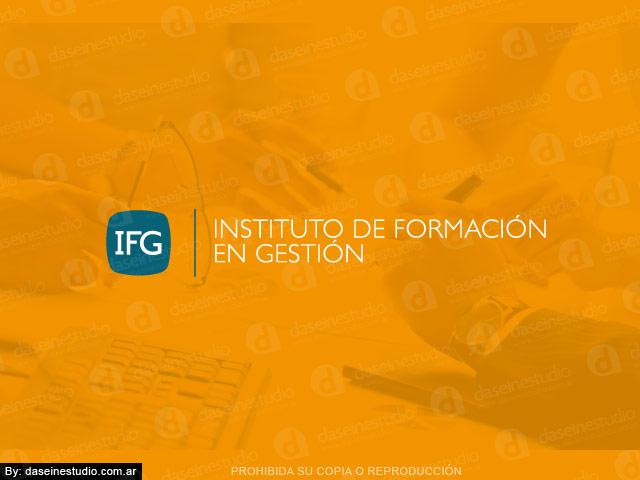 Diseño de logotipo IFG FEFARA Buenos Aires - Fondo naranja: normalización de logotipo.