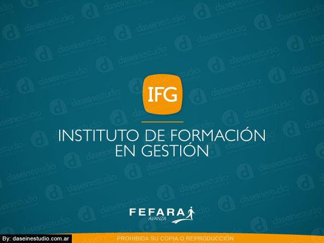Diseño de logotipo IFG FEFARA Buenos Aires - Fondo Verde: normalización de logotipo.