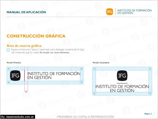 Manual de normalización de logotipo IFG FEFARA Buenos Aires - Construcción Gráfica.
