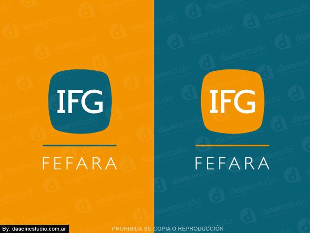 Diseño de logotipo IFG FEFARA Buenos Aires - Variantes: normalización de logotipo.