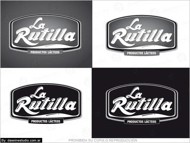 Diseño de Logotipo La Rutilla Productos Lácteos - Santiago del Estero - 1 Tinta