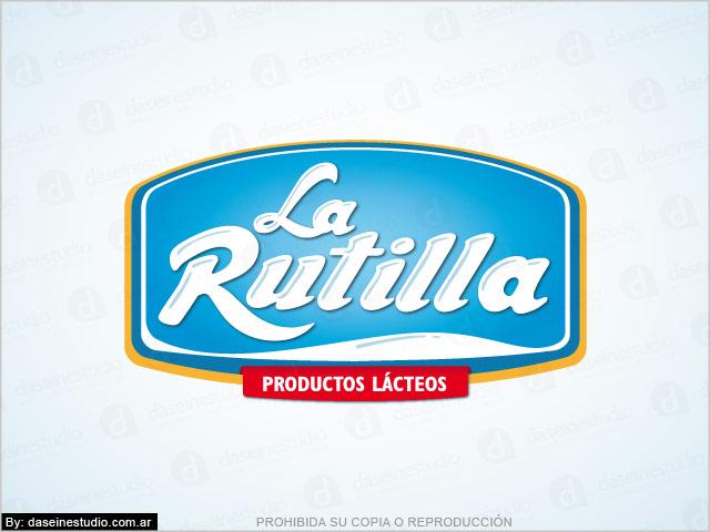 Diseño de Logotipo La Rutilla Productos Lácteos - Santiago del Estero - Fondo blanco: normalización de logotipo.
