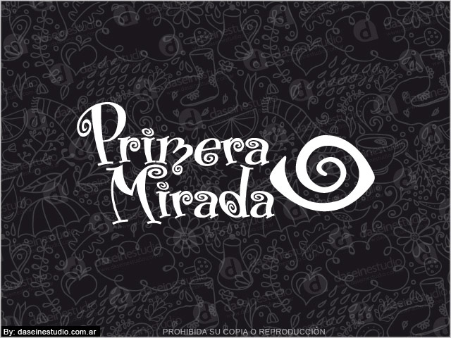 Diseño de Logotipo Indumentaria femenina - Rosario Argentina - Fondo negro: normalización de logotipo.