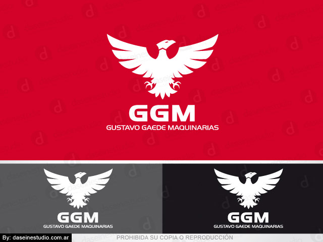 Diseño de Logotipo GGM Maquinaria Agrícola - Santa Fe. Variantes de color